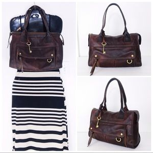 Fossil Bags - Fossil Intentionally Distressed XL Satchel Tote